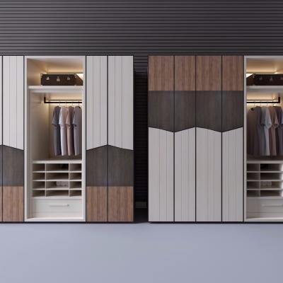 現代實木衣柜服飾3D模型【ID:927836962】
