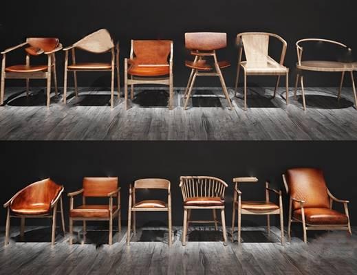 现代休闲椅3D模型下载【ID:219467488】