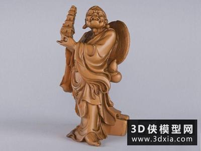 托塔罗汉国外3D模型【ID:929548790】