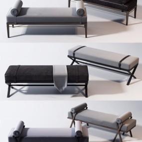 新中式床尾椅3D模型【ID:227892401】