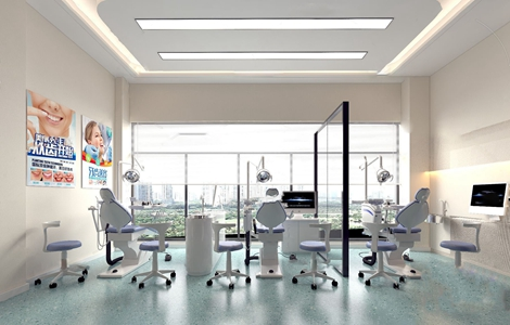 现代牙科医疗诊室3D模型【ID:931408674】