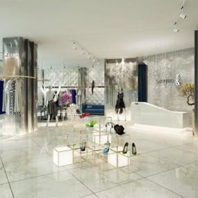 现代服装店3D模型【ID:528027459】