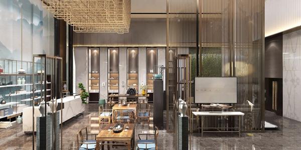 新中式哲島酒店茶室3D模型【ID:420797239】