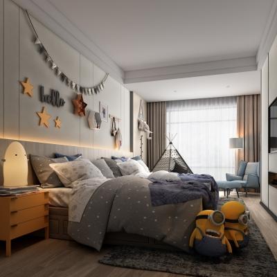 現代兒童房3D模型【ID:128407259】