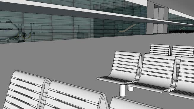 机场二期SU模型【ID:840427580】