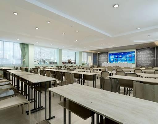 现代教室3D模型【ID:124888281】