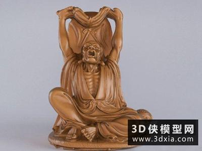 探手罗汉佛像雕塑国外3D模型【ID:929552771】