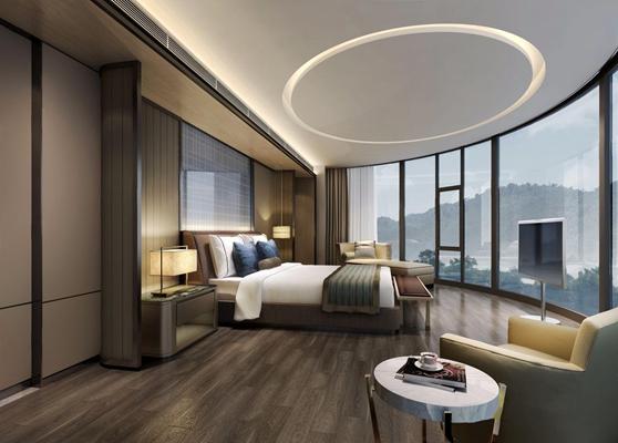 現代酒店套房3D模型【ID:428256698】