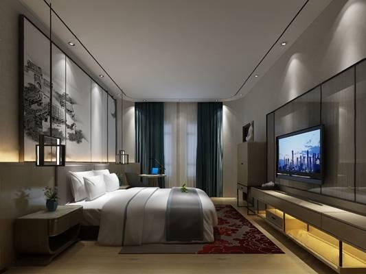 中式客房3D模型【ID:120607878】