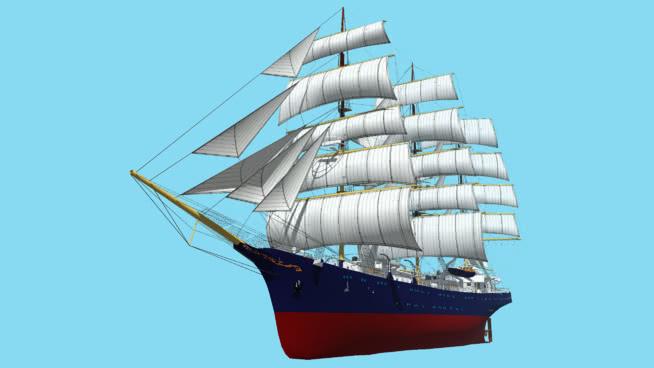 高船SU模型【ID:840431449】