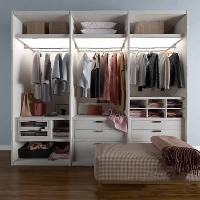 现代衣柜3D模型【ID:920610953】