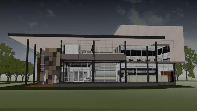办公室-钢结构SU模型【ID:940432730】