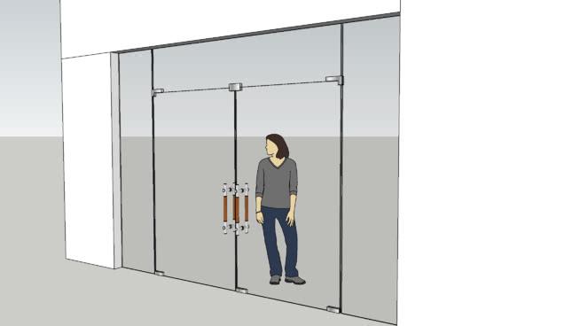 玻璃门(C,A,K,NH)SU模型【ID:939175030】