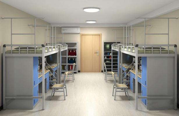 現代宿舍3D模型【ID:528217891】