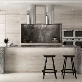 北歐廚房3D模型【ID:534829361】