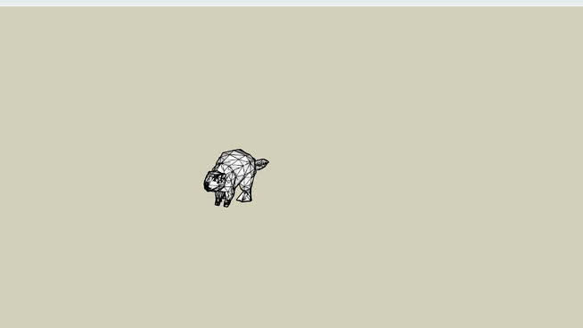 美洲海貍(成人)SU模型【ID:740435611】