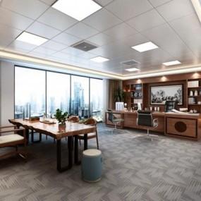 新中式办公室3D模型【ID:728069405】