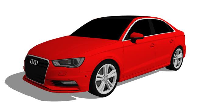 2015奧迪A3轎車2SU模型【ID:439180986】