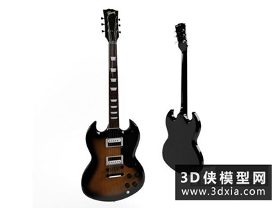电吉他国外3D模型【ID:229642007】