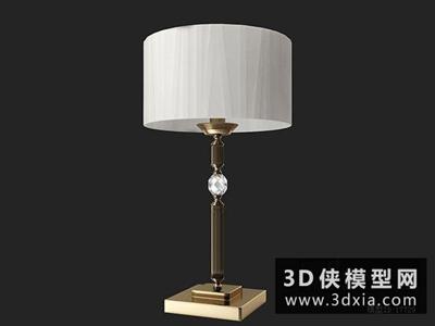 歐式臺燈國外3D模型【ID:829610942】