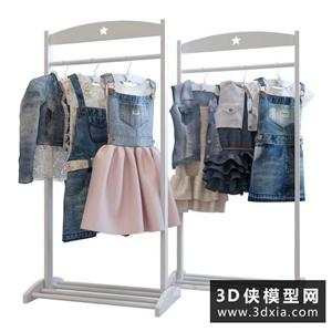 童裝衣服國外3D模型【ID:929322634】