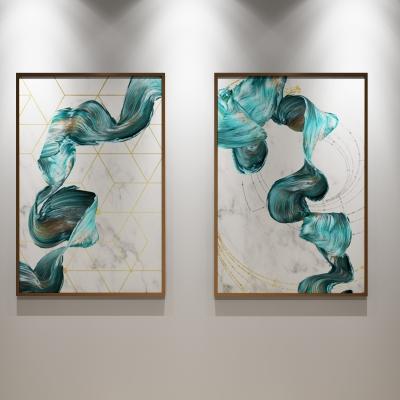 现代抽象装饰画3D模型【ID:127761027】