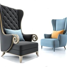 北欧软包休闲单人沙发3D模型【ID:928201617】