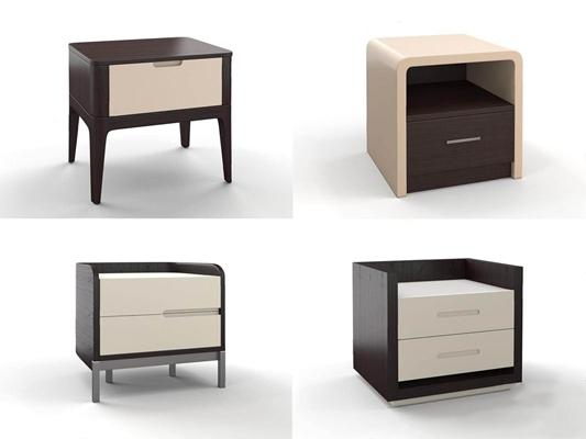 HC28現代新中式床頭柜3D模型【ID:928188627】