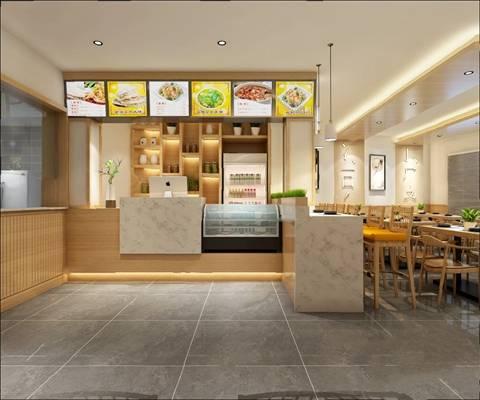 中式餐厅3D模型【ID:120604868】