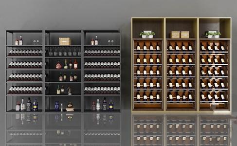 现代酒柜3D模型【ID:632399260】