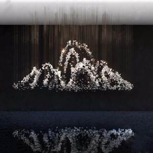 现代水晶吊灯3D模型【ID:832379583】
