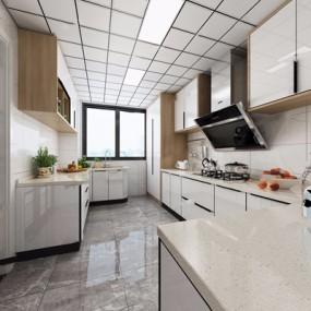 现代厨房3D模型【ID:528277020】