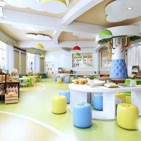 现代幼儿园3D模型【ID:528212881】