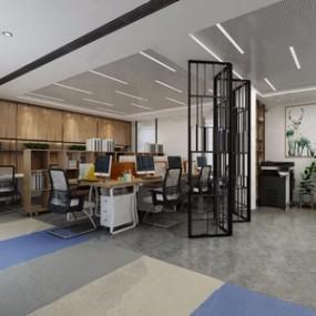 现代办公区3D模型【ID:220809431】