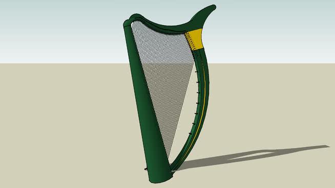 3D挑战12——乐器——爱尔兰竖琴SU模型【ID:940446176】