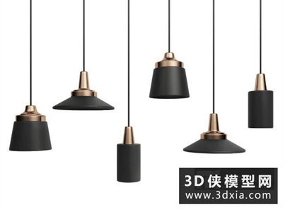 现代时尚吊灯国外3D模型【ID:829636706】