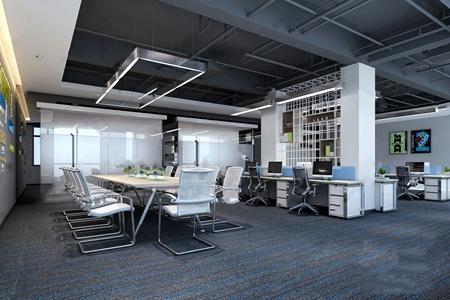 現代開放辦公區3D模型【ID:220822459】