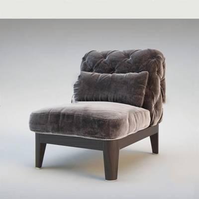 后现代沙发椅3D模型下载【ID:919428484】