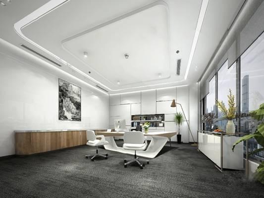 现代办公室3D模型【ID:524887202】