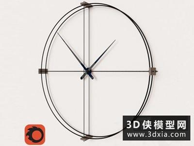 現代掛鐘國外3D模型【ID:929435828】