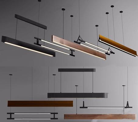 現代簡約吊燈組合3D模型【ID:528030848】