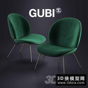現代龜背椅國外3D模型【ID:729316812】