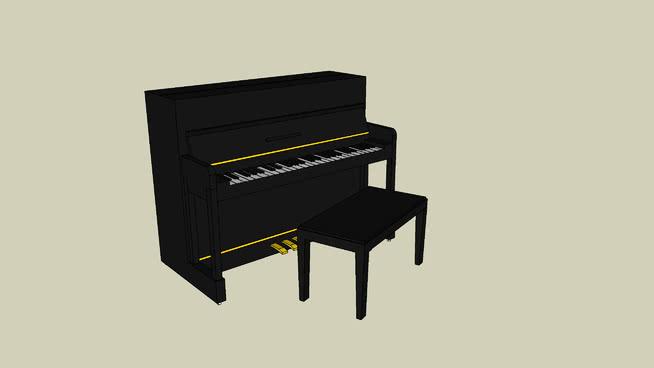 钢琴SU模型【ID:940455188】