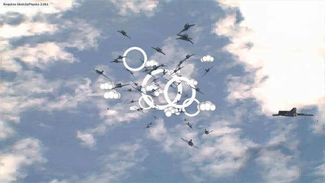 速写物理飞行模拟器游戏(可控)SU模型【ID:740456414】