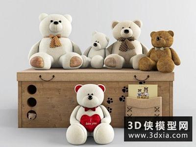 小熊玩具国外3D模型【ID:129456988】