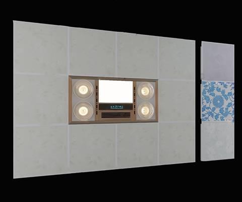 现代吊顶3D模型【ID:124881375】