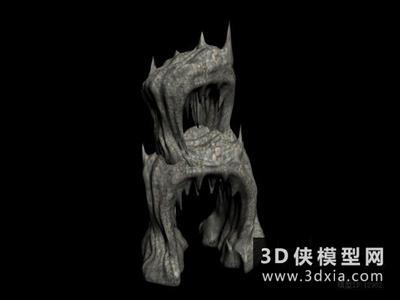 假山國外3D模型【ID:329794380】