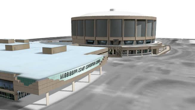 密西西比海岸体育馆和会议中心SU模型【ID:639220057】