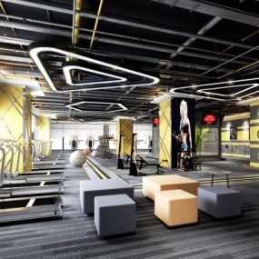 现代健身房3D模型【ID:527802088】