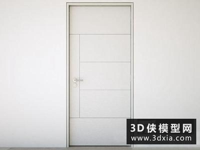 现代房门国外3D模型【ID:929411497】